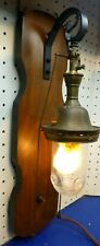 Antique gas light Reflex Welsbach No 6  Hanging Fixture converted electric