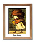Diego Rivera Mujer Con Canasta Wall Picture Honey Framed Art Print