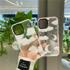 For iPhone 12 11 Pro Max XS XR 7  Cute Moon clouds clear shockproof Phone Case