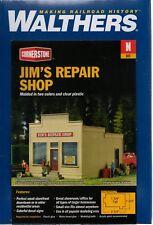 N Scale Walthers Cornerstone 933-3229 Jim's Repair Shop Building Kit