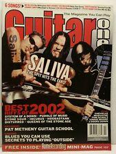 Guitar One Magazine Back Issue February 2003 Saliva