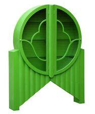 DUSX Moc Croc Vintage Retro Style Green Glass Cabinet glass shelves 139x28x178cm