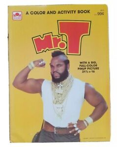 1984 NOS Vintage UNUSED The A-Team Mr T  Coloring & Activity & POSTER  book