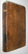 DICTIONARY OF HERALDRY! COATS OF ARMS(1739!) FOLD OUT Crests Leather ANTIQUITIES