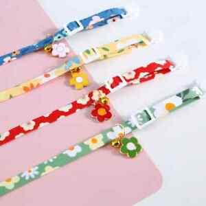Super cute cat kitten ribbon collar, adjustable with charm