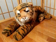 Very Large FAO Schwarz 5th Avenue Plush Tiger Stuffed Animal Cat 40 inches