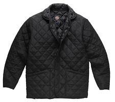 NEW Dickies Polden Zip Front Diamond Quilted Jacket Black XL & XXL FREE P&P