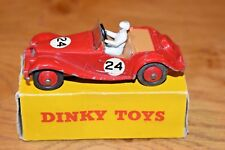 Dinky Toys; 108; Red MG Midget Sports; Original Box; Racing Number 24