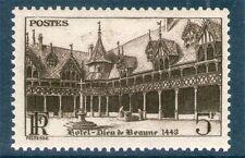 TIMBRE N° 499 NEUF ** GOMMES ORIGINALES - HOTEL DIEU DE BEAUNE