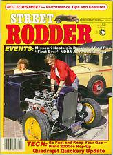STREET RODDER MAGAZINE FEBRUARY 1986, QUADRAJET QUICKERY UPDATE, '41 WILLY'S