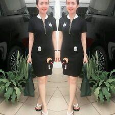 Zara Black Patch Embroidered Dress Size SMALL BNWT