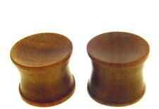 PAIR 000G 7/16 INCH (12MM) CONCAVE ROSE WOOD PLUGS PLUG