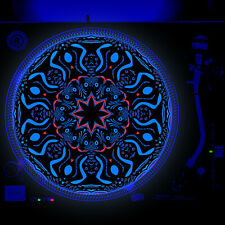 Dj Turntable Slipmat 12 inch Glow under Blacklight - Africa Jungle