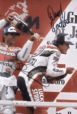 Daryl Beattie & Mick Doohan SIGNED 12x8 Podium Portrait  Japanese GP Suzuka 1995