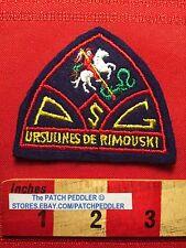 CANADA PATCH Maybe A Quebec School ~ PSG URSULINES DE RIMOUSKI White Horse 5NB6
