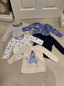 Baby Boys Long Sleeve Tops Bundle. 9-12 Months. VGC