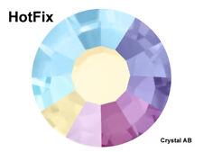 HOTFIX Crystal AB, Preciosa Genuine Czech Viva Chaton Rose Flatback Rhinestones
