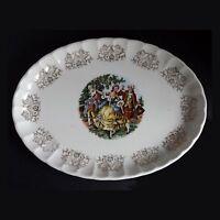 "W. S. George Bolera 22 Kt Gold Porcelain Serving Platter Made in USA 11"" x 8"""