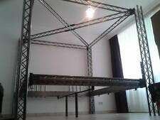 Traversenbett Himmelbett Neonbett Metallbett Stahlbett Mod. 140x200x200cm