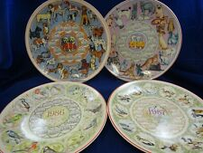 Wedgwood Queens Ware Calendar Plates x4 1984 - 1985 - 1986 - 1987 Boxed LOT 4