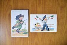 LOTTO 2 CARTOLINE CECAMI N. 820 1026 BAMBINI illustratore VIAGGIATE SUBALPINA BB