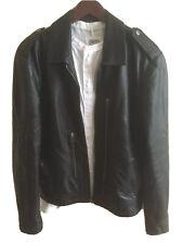 All Saints Men's HIGH FLYER Leather Jacket Size UK M