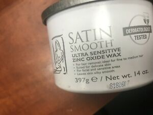 SATIN SMOOTH ULTRA SENSITIVE ZINC OXIDE WAX 14OZ. 12$us ship