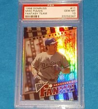 1998 DONRUSS #11 FANTASY TEAM /4000 FOIL MIKE PIAZZA PSA 10 GEM MINT !