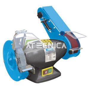 Smerigliatrice combinata levigatrice FERVI 0383 350W mola 150mm nastro 50x686mm