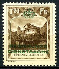 Liechtenstein 1932 1.20 Fr Official KEY Stamp MNH Scott's O8