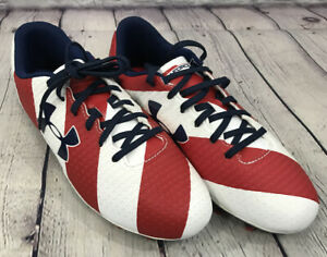 NEW Under Armour Speed Force FG JR Shoes Color Red White Midnight Blue Size 4.5Y