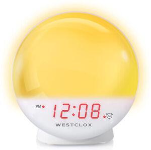 Westclox Sunrise/Sunset Stimulating Alarm Clock with Dimmable Nightlight 71051