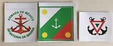 Mexican Navy jack, naval infantry & navy air vinyl stickers (3) flags RIMPAC