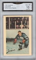 GMA 10 Gem Mint TIM HORTON 1993 Parkhurst Insert Series #PR-34 MAPLE LEAFS!