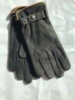Fleece Lined Nubuck Leather Gloves Men's Size S, L NWT