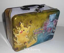 Pokemon SM Collector's CHEST Tin Empty 2017 Pikachu SHINY MEW LUNCH BOX