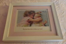 """Hallmark Big Sister Baby White Wood Picture Frame 8""""x9.25"""" Holds 7""""x8"""" Photo"""