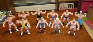 Vintage 1990 WCW Galoob Wrestling Figures Set Of 10