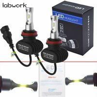 8000LM 6500K H8 H9 H16 H11 CSP LED Headlight Bulb Conversion Kit High Low Bulb