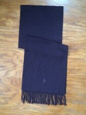 NWT POLO RALPH LAUREN AGED WINE HEATHER NECK WRAP 100% ITALIAN CASHMERE SCARF