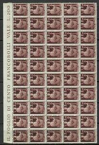 S33630 Italy Dealer Stock MNH 1945 L.2,00 Democratic Block Di 50v Fold