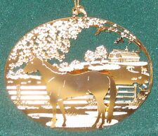 NEW IN BOX - Quarter Horse 24k Gold Plated Ornament- Kingsheart Forge