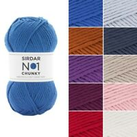 Sirdar No.1 Chunky Yarn Supersoft Knitting Knit Crochet Crafts 100g Ball Wool