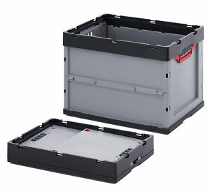 Profi-Faltbox AUER 60x40x42 cm Stapelkiste Kunststoffbehälter Transportbox 5 St.