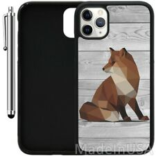 Case For iPhone 11 Pro MAX XR XS MAX 7 8 Plus 6 Plus - Geometric Fox on Wood