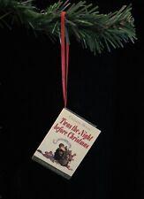 Twas The Night Before Christmas Miniature Book Christmas Ornament
