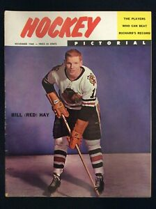 Vintage (Nov 1960) Hockey Pictorial Magazine   Cover:  Bill (Red) Hay   M1703