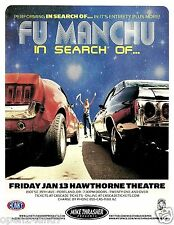 "FU MANCHU 2012 ""IN SEARCH OF TOUR"" PORTLAND CONCERT POSTER - Stoner Metal Music"