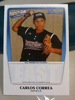 Carlos Correa 2011 Bowman Perfect Game All American Classic RC Astros