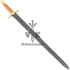vk2519 Handmade Damascus Steel Sword Knife having Twist Pattern